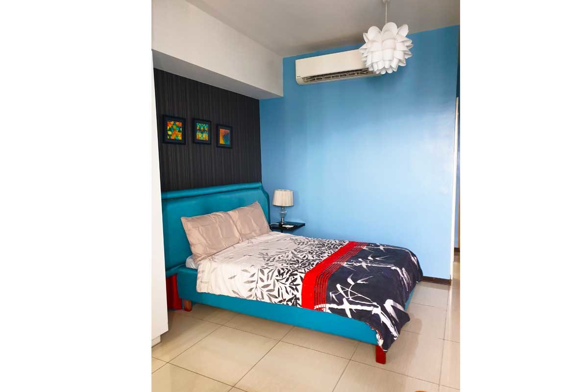Light Blue Studio Room at Calyx Residences